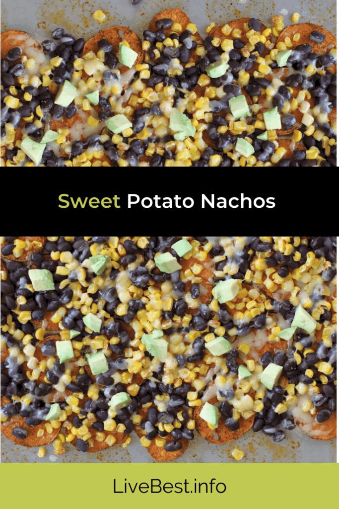 tray of sweet potato nachos