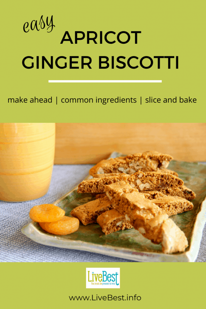 Apricot Ginger Biscotti on a plate