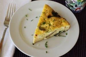 mushroom frittata slice