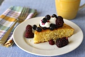 toasted cornbread, berries & yogurt