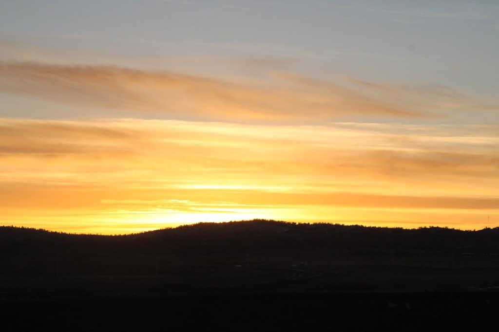 Wyoming sunset