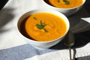 carrot ginger coconut soup 2