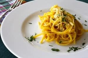 pasta, eggs, cheese