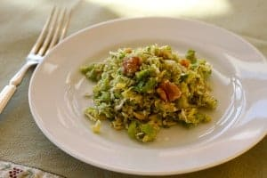 Brussels Sprouts Slaw on plate