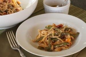 spicy vegetable pasta