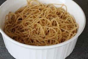 bowl of cooked pasta