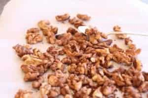 Chai Walnuts | This easy recipe wraps spices around toasty walnuts. Low sugar keeps them healthy! www.LiveBest.info