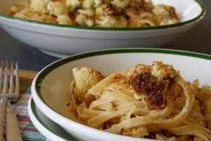 roasted cauliflower fettuccine