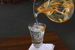 orange flavored water