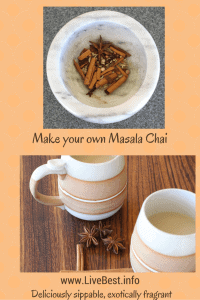 Masala Chai is an easy recipe to make at home. Spices + Milk = Lovely! A real food recipe, naturally. www.LiveBest.info