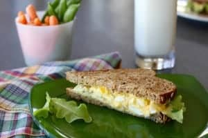 Curry Egg Salad Recipe | Plain Greek yogurt'stangy flavor, protein and calcium make this a healthy winner, while lowering the calories! That's what I look for in a recipe that helps me LiveBest! www.LiveBest.info
