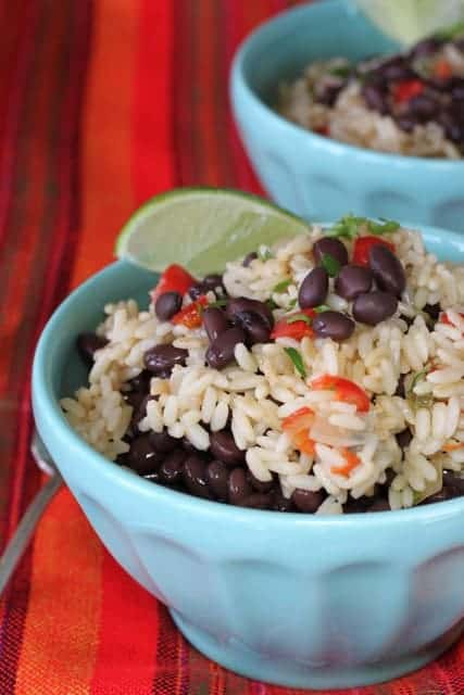Gallo Pinto   Black beans and rice was my best souvenir from Costs Rica. They were served for breakfast which is where I fell in love with them! They keep well and don't you love that these are such a bargain? I do. www.LiveBest.info