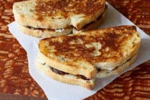 Not Your Mother's Grilled Cheese | Leftovers go gourmet with this delish recipe. www.LiveBest.info
