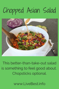 Chopped Asian Salad Recipe | OMGosh this healthy vegetarian salad delivers on delish and nutrish. Every bite is body-building health. Every forkful is scrumptious. www.LiveBest.info