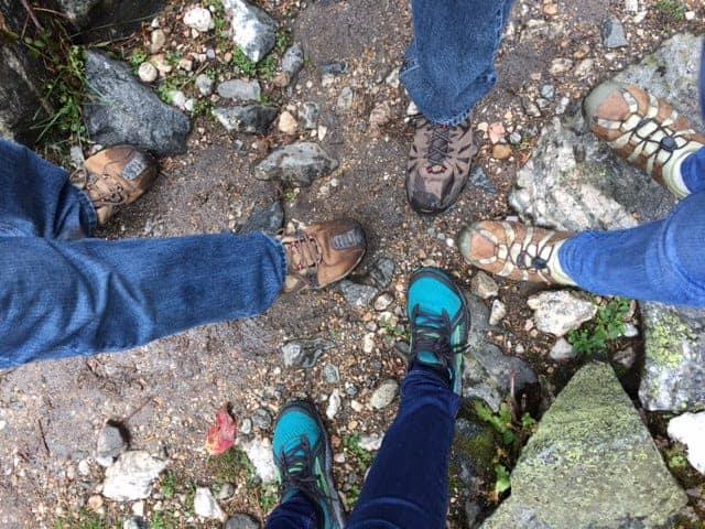 hikers footsteps