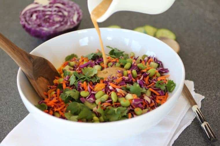 Chopped Asian Salad | OMGosh this salad delivers on delish and nutrish. Every bite is body-building health. Every forkful is scrumptious. www.LiveBest.info