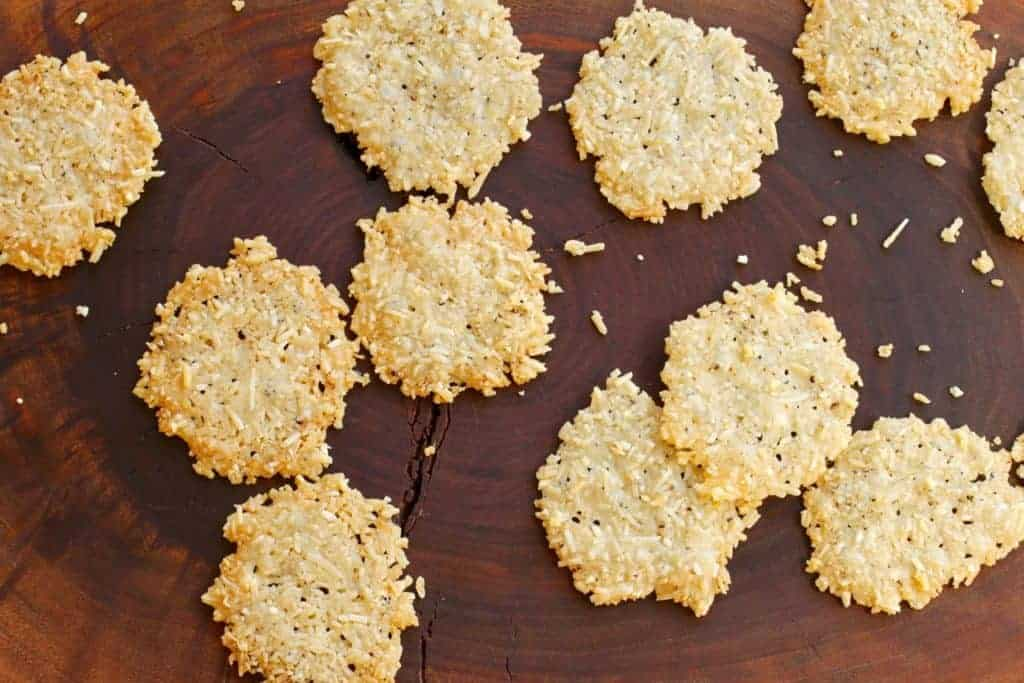 Parmesan Pepper Crisps | People LOVE these! Some of the first to go at a party or sitting on the couch.! www.LiveBest.info