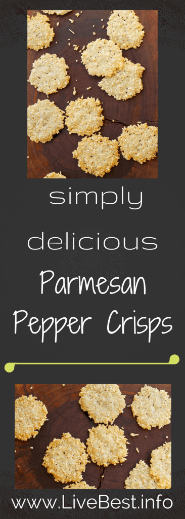 Parmesan Pepper Crisps | A super simple, 4 ingredient recipe is simple delicious! www.LiveBest.info