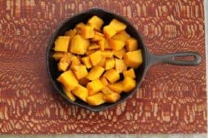 Roasted Buttercup Squash in skillet