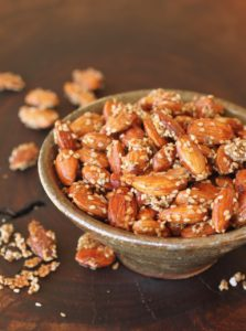 Salted Honey Sesame Almonds