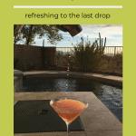 Grapefruit martini poured from shaker.