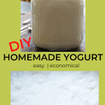 jar of homemade yogurt