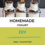homemade yogurt in glass bottles