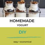 homemade yogurt in glass bottles