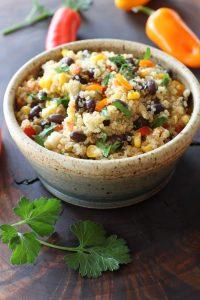 bowl of Black Bean Quinoa Salad