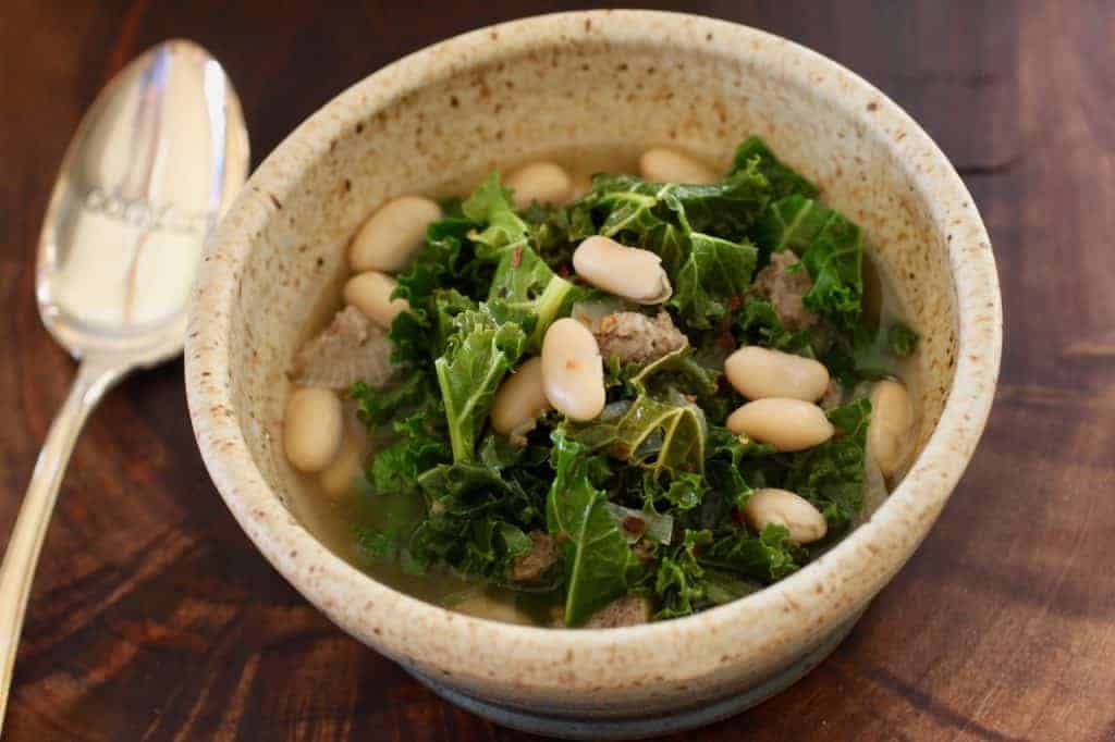 Kale Turkey Bean Soup   This hearty soup is easy to make and quick to fix comfort food. Full of fiber and flavor. www.LiveBest.info