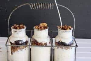 Pumpkin Spice Seedy Granola in yogurt parfaits