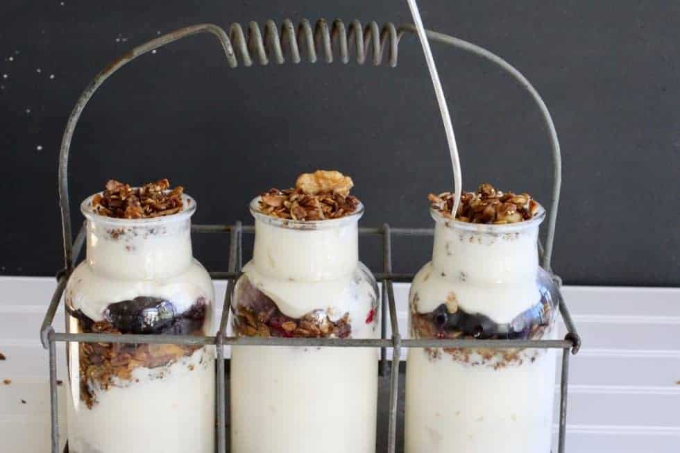 Homemade yogurt parfait with Pumpkin Spice Seedy Granola