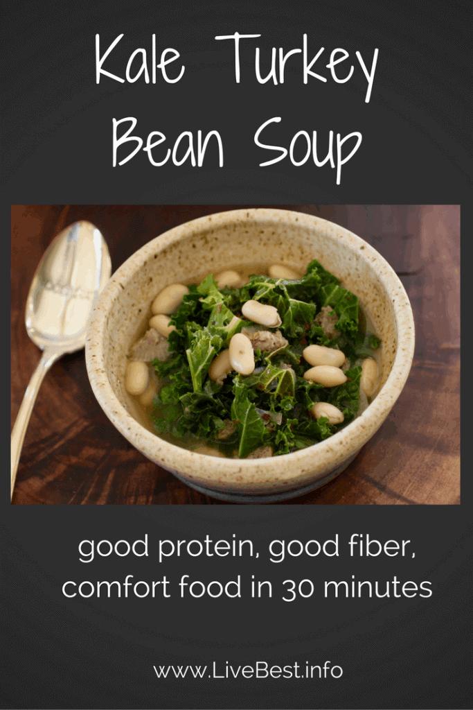 bowl of Kale Turkey Bean Soup