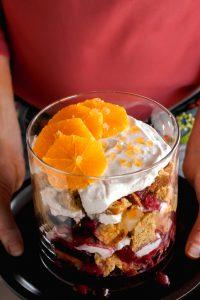 Cranberry Cornbread Trifle