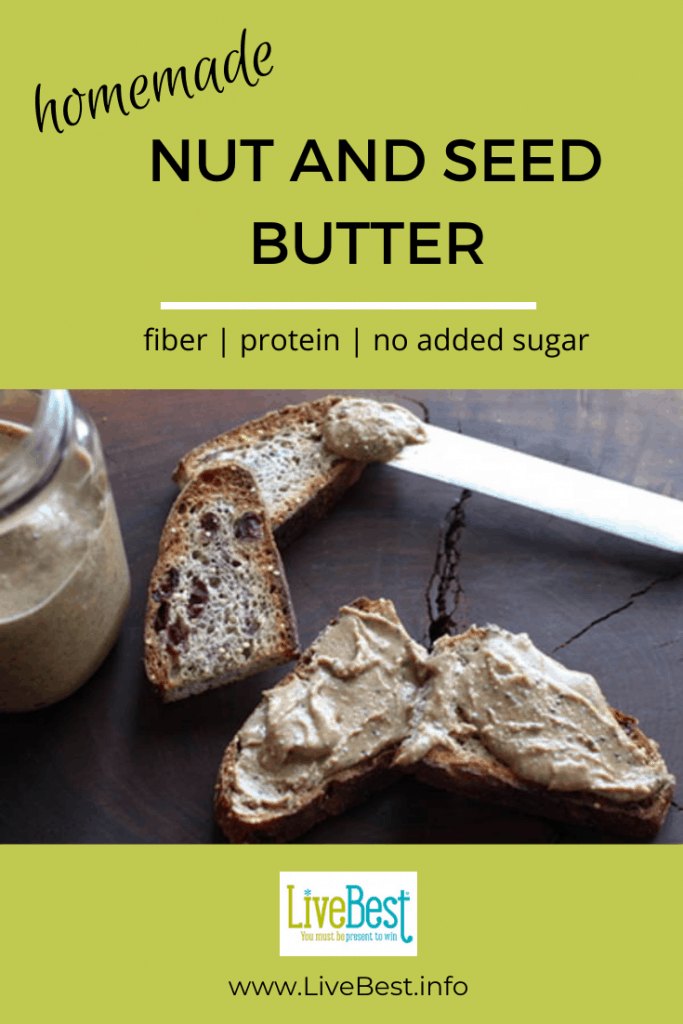toast spread with nut and seed butter