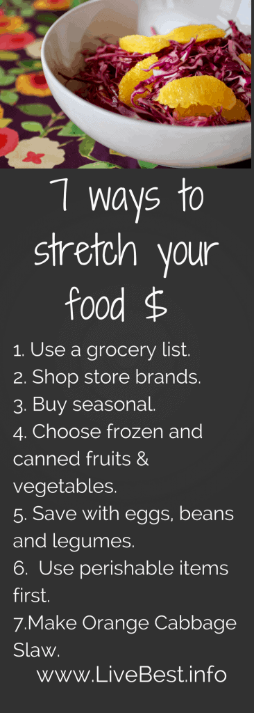 7 ways to stretch your food dollar. www.LiveBest.info