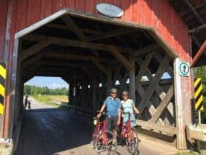 Covered bridge in eastern Canada
