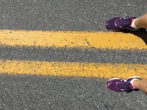 2 feet on the street in Quebec, Canada, photo by Judy Barbe, LiveBest.info