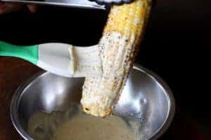 Mexican Street Corn brushed with yogurt cream