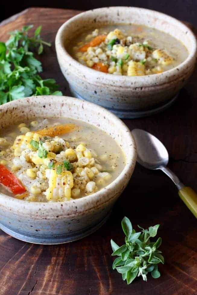 Corn Jalapeno Vegetable soup