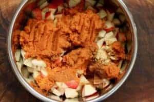 Instant Pot Apple Pumpkin Butter ingredients