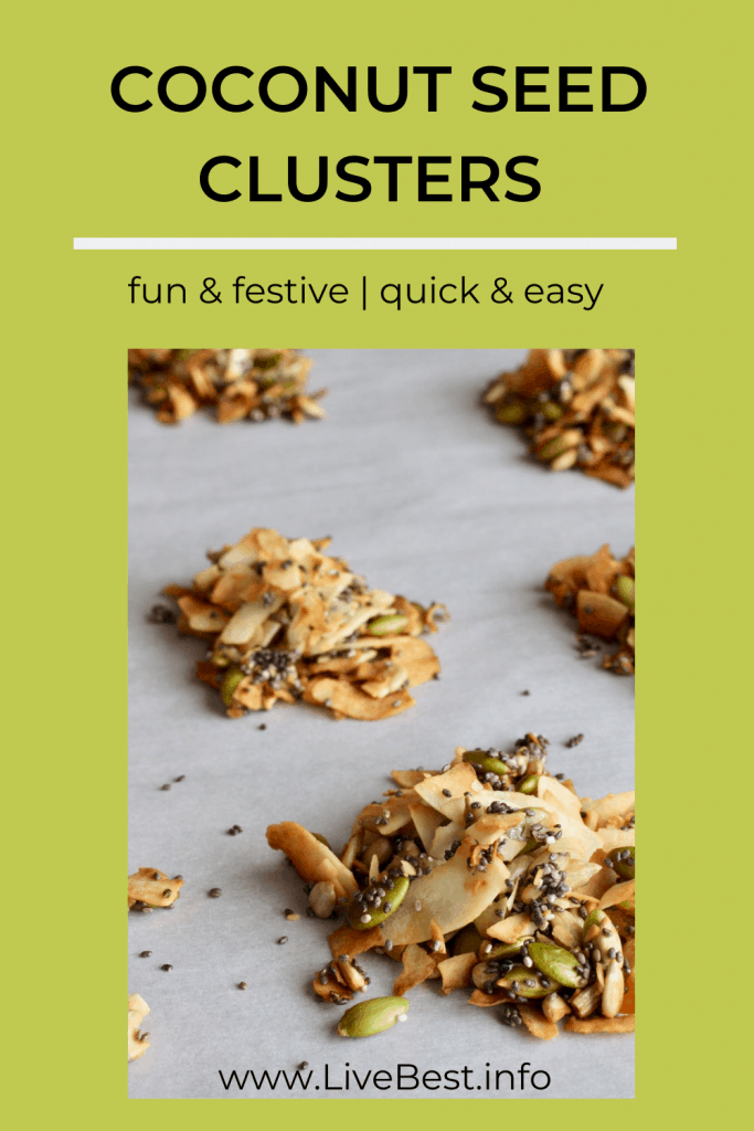 5 coconut seeds clusters on parchment paper