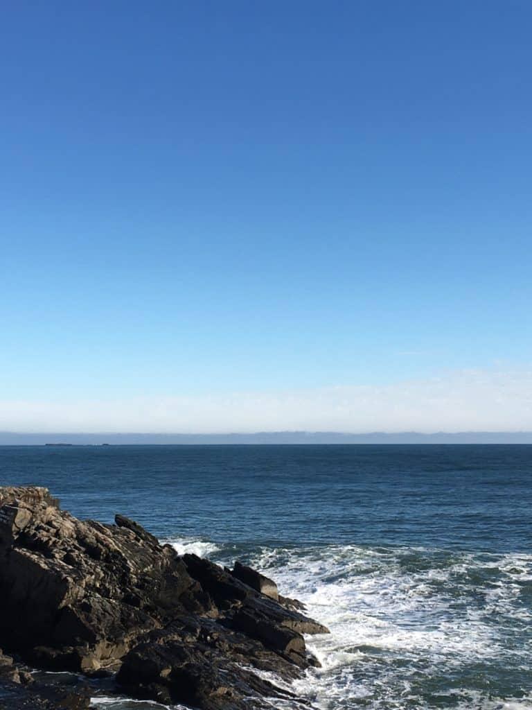 Ocean view form Portland Maine
