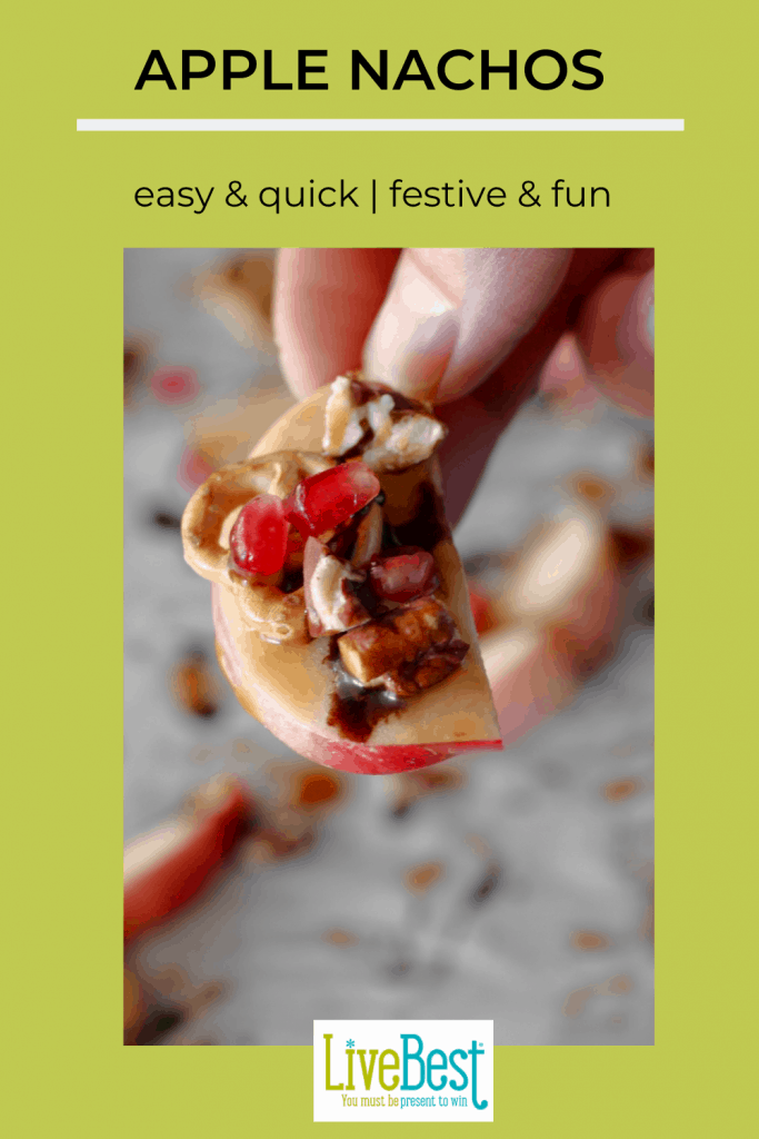 apple slice with nuts and fruit