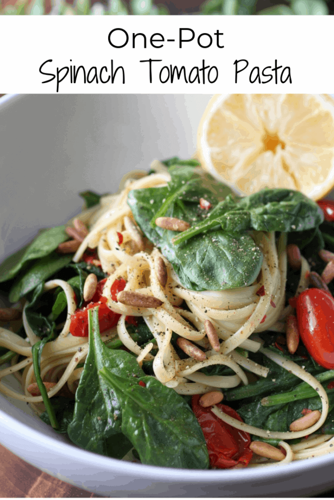 spinach and tomato spaghetti