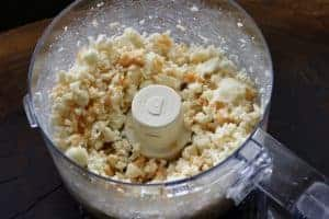 food processor with blended cheese