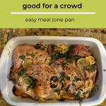 pan of lemon baked chicken