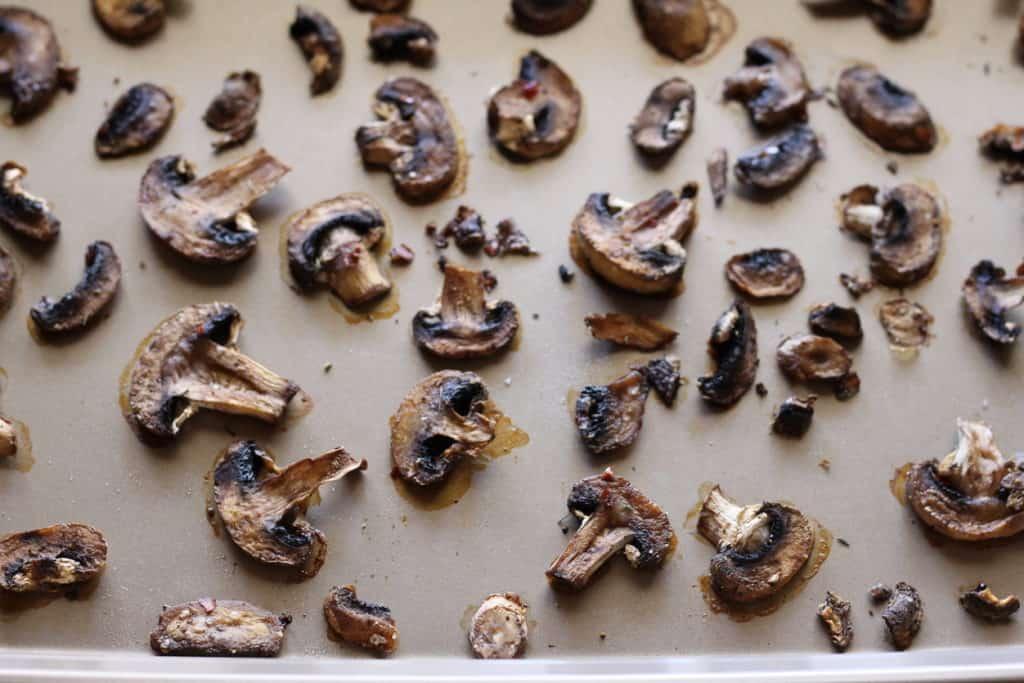 baked mushroom slices