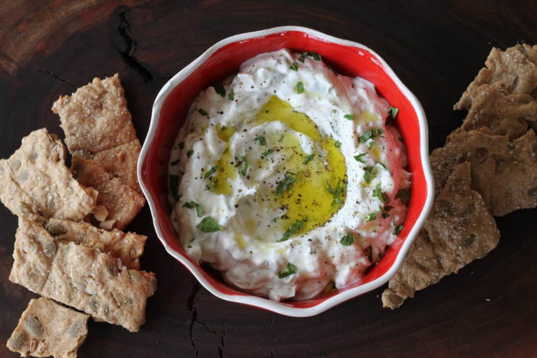 bowl of tzatziki