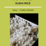sushi rice on baking sheet
